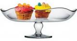 Скляне блюдо Toscana Ø30см пішки