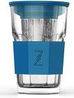 Стакан-заварник ZestGlass Original 415мл з металевим ситом і силіконовим захистом (синій)