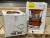 Стакан-заварник ZestGlass Original 415мл з металевим ситом і силіконовим захистом (помаранчевий)