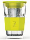 Стакан-заварник ZestGlass Original 415мл з металевим ситом і силіконовим захистом (лимонний)