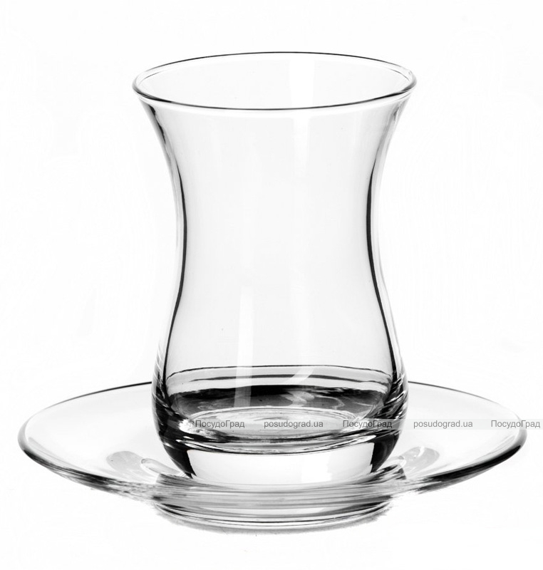 Набор чайных стаканов Sylvana 6 стаканов 160мл и 6 блюдец
