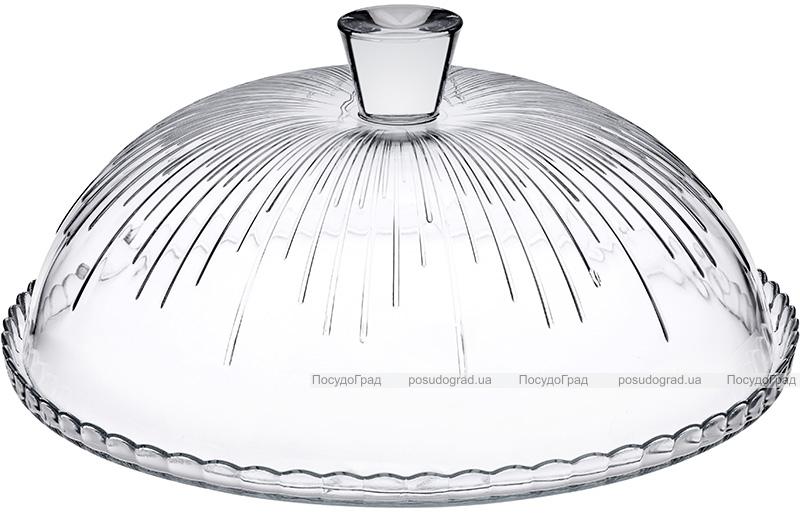 Блюдо Patisserie Ø32.2см з бортом і зі скляною кришкою-ковпаком