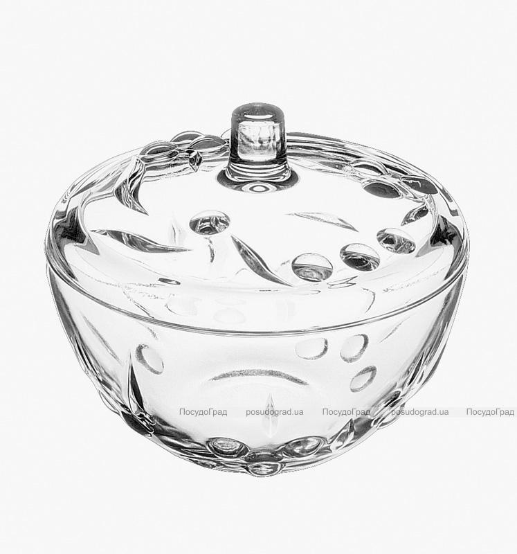 Сахарница Perla стеклянная с крышкой