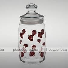 "Банка для продуктов Cesni 1100мл ""Клубничка"""