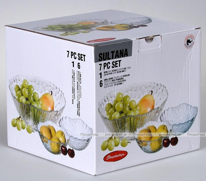 Набор Sultana салатник Ø23см и 6 пиал Ø12см