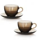 Чайный сервиз Basic Bronze 6 чашек 240мл и 6 блюдец