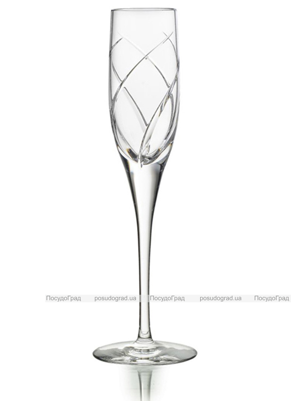 Набор 4 хрустальных фужера Atlantis Crystal VIOLINO 130мл для шампанского