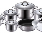 Набір кухонного посуду Renberg Alexander 4 каструлі, ківш і сковорода