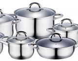 Набір кухонного посуду Renberg Alexander 4 каструлі, ківш і сковорода з мірною шкалою