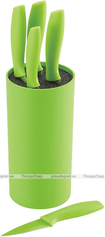 Набір 5 кухонних ножів Renberg Carmiel в пластиковій колоді, зелений