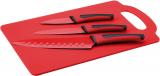 Набір 3 кухонні ножі Renberg Leiden Red + пластикова дошка
