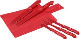 Набір 5 кухонних ножів Renberg Leiden Red + пластикова дошка