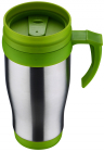 Термокружка Renberg Life Rhythm 400мл з ручкою, зелена