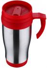Термокружка Renberg Life Rhythm 400мл з ручкою, червона