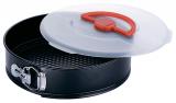 Форма для выпечки разъемная Renberg Ø26см с пластиковой крышкой с ручкой и защелкой
