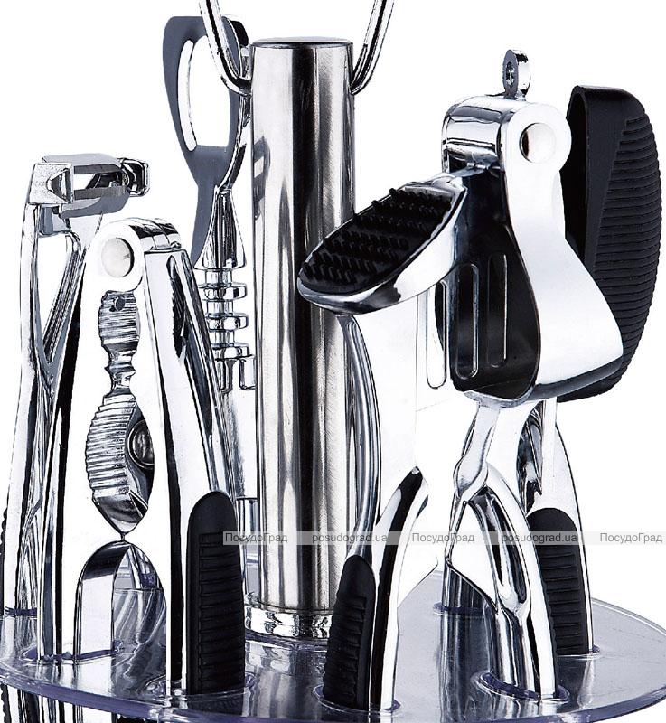 Набір кухонний Renberg Barset на підставці 6 предметів (оцинковані)