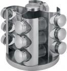 Набір для спецій Renberg Ø17х20см 12 ємностей на металевій підставці