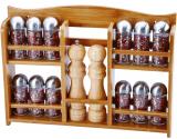 Набір для спецій Renberg 14 ємностей на дерев'яній полиці