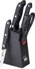 Набір кухонних ножів Renberg Black Crystal 5 предметів на пластиковій підставці