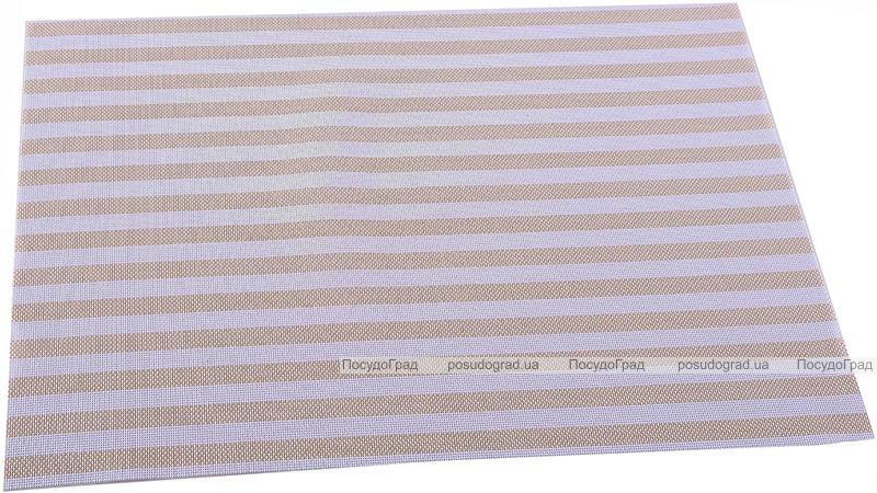 Коврик сервировочный Renberg Vinyl Rug 30х45см, винил, бежевая полоса