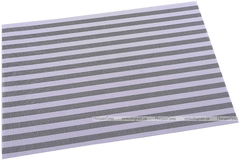 Коврик сервировочный Renberg Vinyl Rug 30х45см, винил, серая полоса
