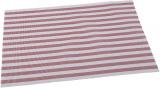 Килимок сервірувальний Renberg Vinyl Rug 30х45см, вініл, червона смуга