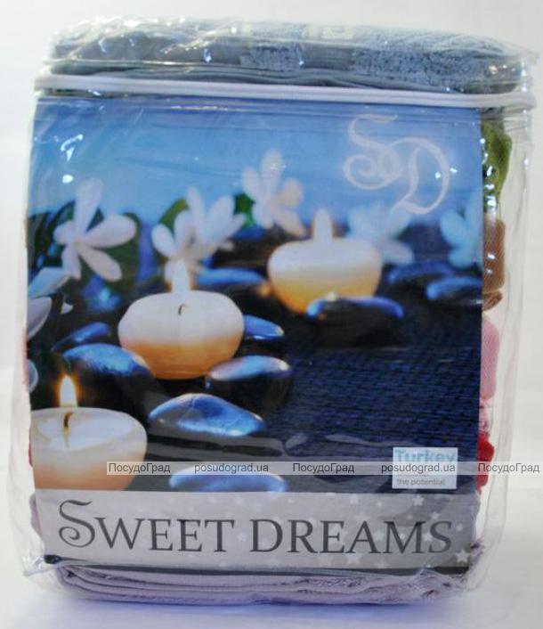 Набір 6 махрових рушників Sweet Dreams-1955 50х90см (лицьові)