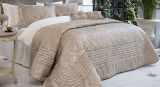 Покрывало Pepper Home Clara 270х260см с наволочками и декоративными подушками, жаккард