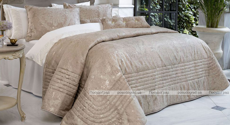 Покривало Pepper Home Clara 270х260см з наволочками і декоративними подушками, жаккард