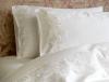 Комплект постельного белья Pepper Home Eliza Cream (евро) сатин с вышивкой и гипюром
