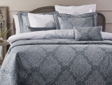 Покривало Pepper Home Athena Mavi 270х260см з наволочками і декоративними подушками, жаккард