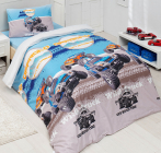 Детское постельное белье Altinbasak Wild Truk, ранфорс