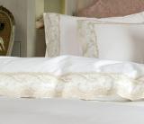 """Комплект постельного белья Pepper Home """"Stella"""" (евро) сатин с вышивкой и гипюром"""