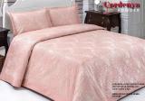 Жакардове покривало ISSI home Cordenya 250х270см з 2 наволочками 50х70см, рожеве
