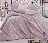 Комплект постельного белья Altinbasak Rozi Pink Евро, ранфорс
