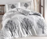 Комплект постельного белья Altinbasak Tree Gry Евро, ранфорс