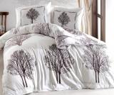 Комплект постельного белья Altinbasak Tree Kahve Евро, ранфорс