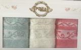 Набор 3 кухонных полотенца Pupilla M3303 30х50см, бамбук