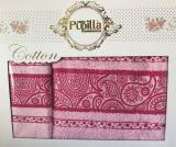 Набор 2 полотенец Pupilla (50х90 и 70х140см) розовые, махра