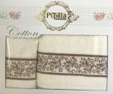 Набор 2 полотенец Pupilla (50х90 и 70х140см) молочные, махра