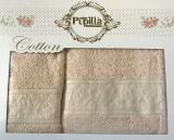 Набор 2 полотенец Pupilla (50х90 и 70х140см) песочные, махра