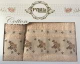 Набор 2 полотенец Pupilla (50х90 и 70х140см) персиковые, махра