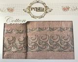 Набор 2 полотенец Pupilla (50х90 и 70х140см) кофейные, махра