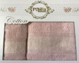 Набор 2 полотенец Pupilla (50х90 и 70х140см) светло-розовые, махра