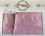 Набор 2 полотенец Pupilla (50х90 и 70х140см) сиреневые, махра