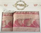 Набор 2 полотенец Pupilla (50х90 и 70х140см) лиловые, махра