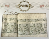 Набор 2 полотенец Pupilla (50х90 и 70х140см) белые, махра