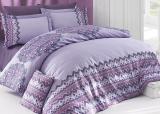Комплект постельного белья Nazenin Acacia Lila Евро (4 наволочки), сатин