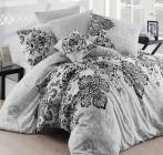 Комплект постельного белья Nazenin Luxury Gri Евро, ранфорс