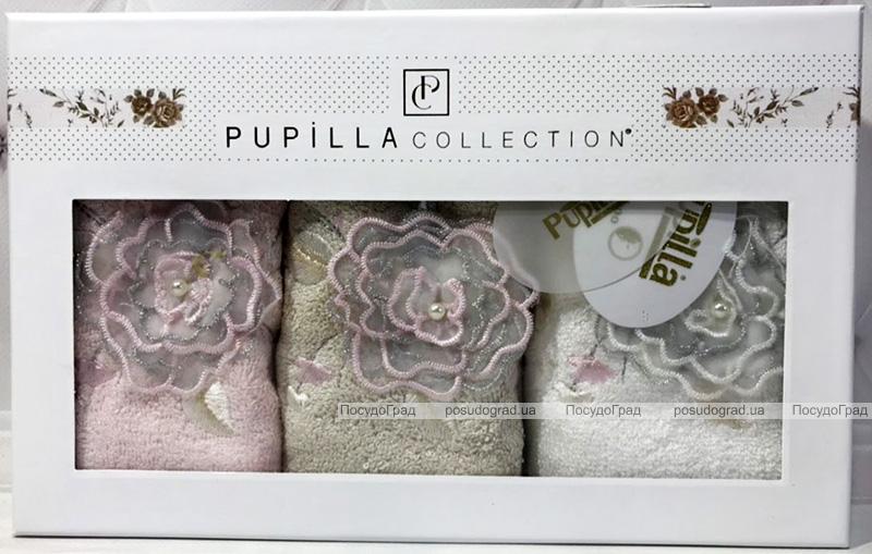 """Набор 3 кухонных полотенца Pupilla Bamboo """"Бутон"""" 30х50см"""